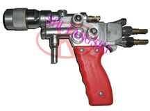 Metal/plastic powder melting sprayer