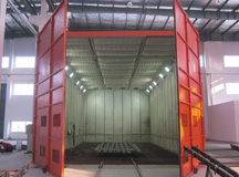 Automatic mechanical recycling type sandblasting room