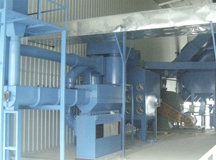 Abrasive recycle filtering separating system