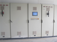 Automatic electrical control system of sandblasting room