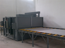 Automatic sand blastng line for Ti-Al-Mo sheet