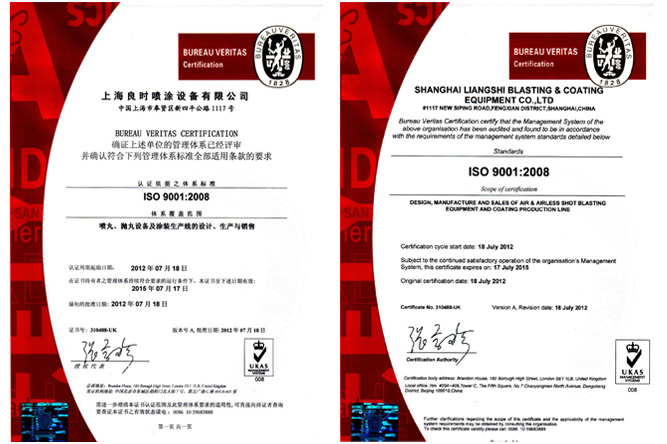 France BV International Quality Management System Certification ISO9001:2008