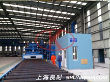 Steel plate shot blasting pretreatment line for Wind power tower