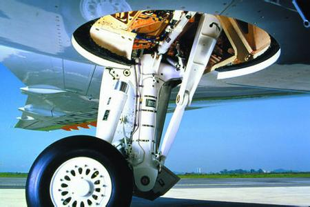 Powerful blasting machine CNC aircraft landing gear