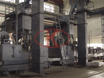 Sheet steel plate production line Shot