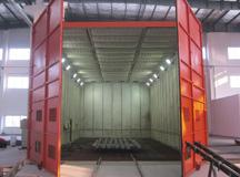 Airport equipment scraper recovered automatic sandblasting room