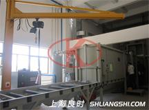 Shanghai Liangshi  develop  coating line  bezel  automated manual sandblasting machine for customers