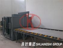 Shanghai liangshi design and manufacture aluminium sheet roller conveyor automatic sandblasting machine for customer