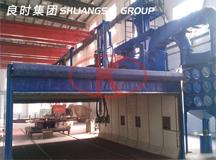 Shanghai Liangshi  manufactured a high-precision automatic sandblasting  zinc spray equipment for a bearing company of  Dalian