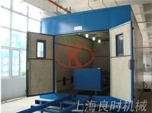 Design and manufacture of pipe inner wall automatic sandblasting room for a   foreign-funded of Jiangsu