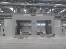Design and manufacture air curtain dry type paint spray house for Austria injection molding machine manufacturer