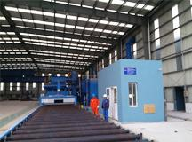 Shot blasting pretreatment line and sandblasting painting line for steel plates of wind power tower