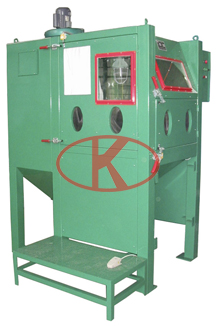 LMJ1010F-ASingle-gun double-station pressure sandblasting cabinet